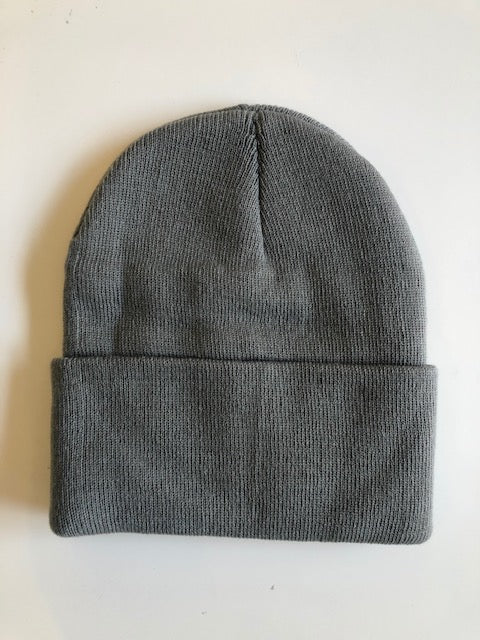 Rib Knit Toque - Light Grey