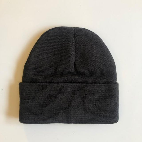 Rib Knit Toque - Black