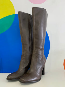 Ralph Lauren Heeled Leather Boots