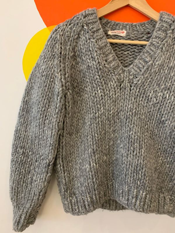 Super Heavy Knit Sweater - Handmade!