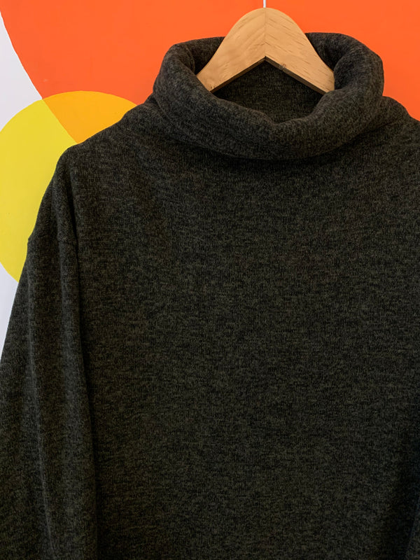 Dark Green Roll Neck Sweater