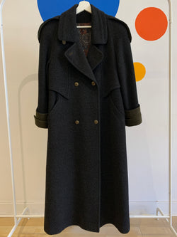 Long Wool Double Breasted Jacket