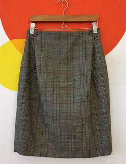 Plaid Houndstooth Skirt
