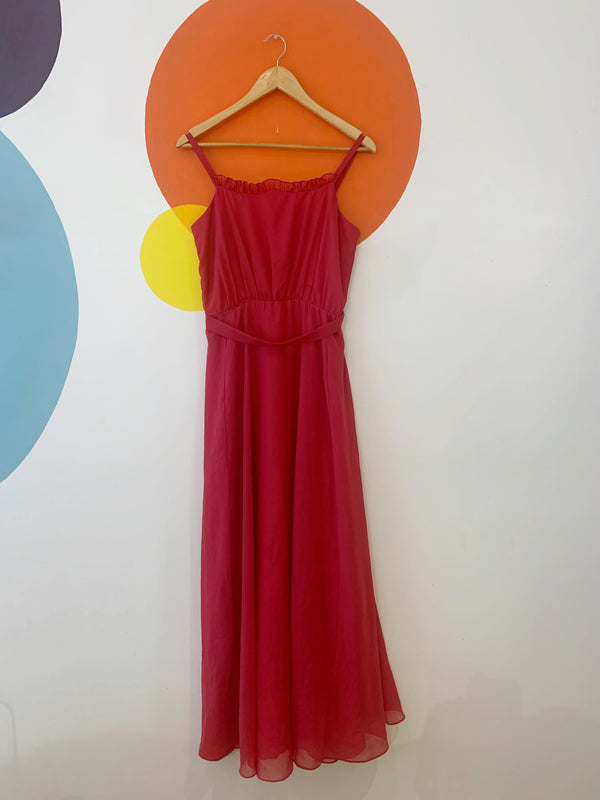 Vintage Deep Pink Party Dress