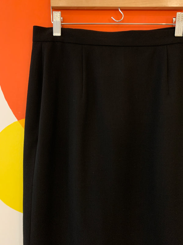 Black wool skirt