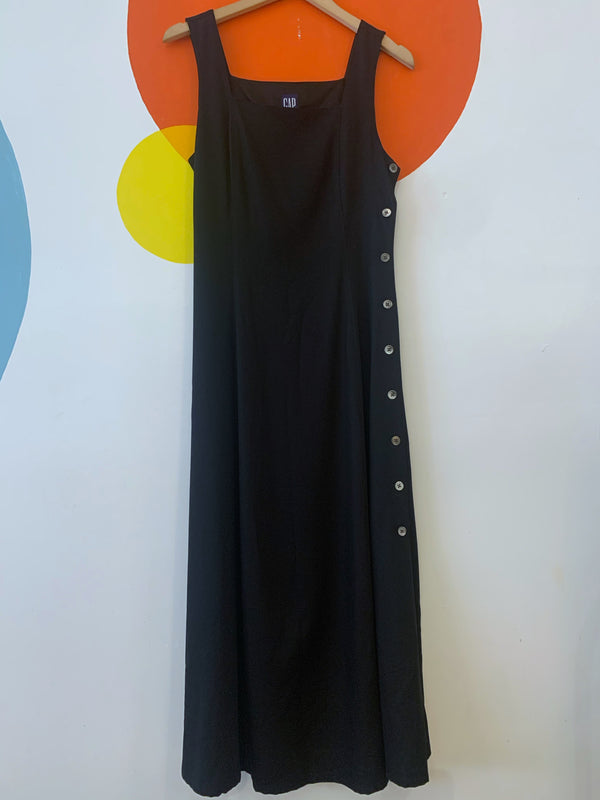 Long Side Button Dress