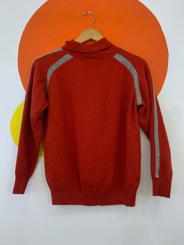Vintage Wool Mock Neck Sweater- As Is
