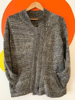 Asymmetrical Zipper Sweater