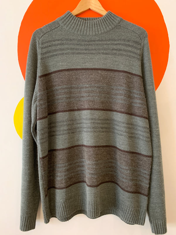 Vintage Mockneck Wool Blend Sweater