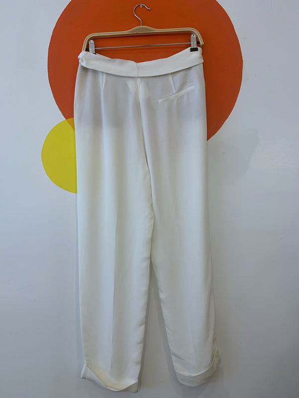 White Trousers With Sash Belt