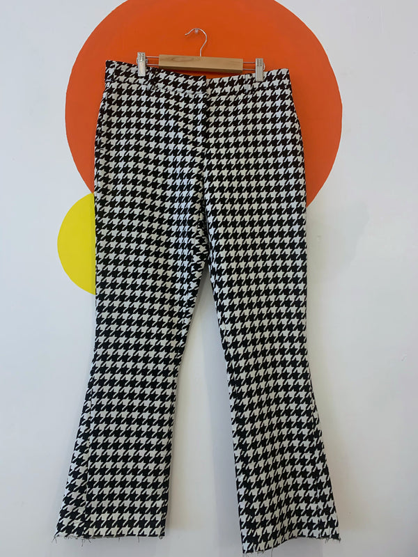Oversized Houndstooth Trousers