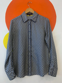 All Over Print Long Sleeve Button Up Shirt