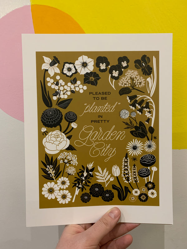 Planted in Garden City Print
