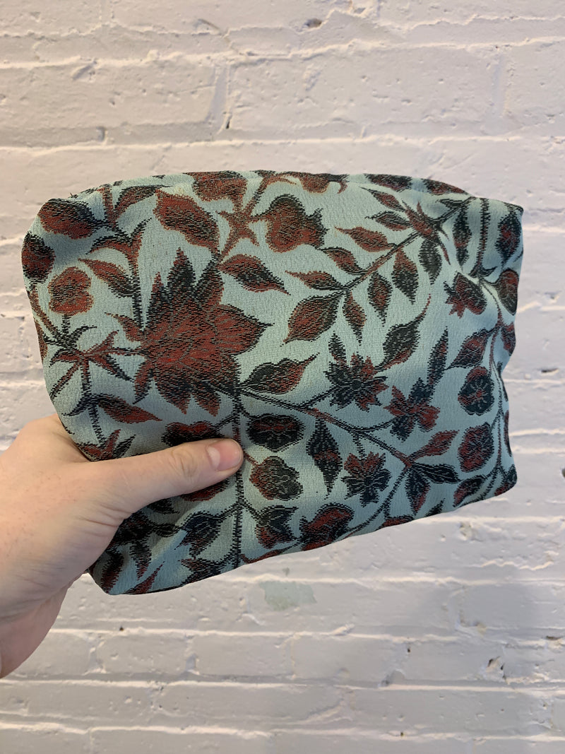 Silk Zip Bag - Floral Vines - Large
