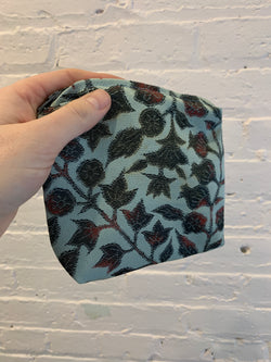 Silk Zip Bag - Floral Vines - Medium