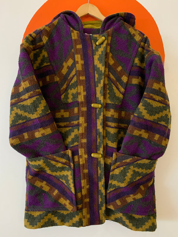Vintage Wool Blend Toggle Front Jacket - Winnipeg Made!