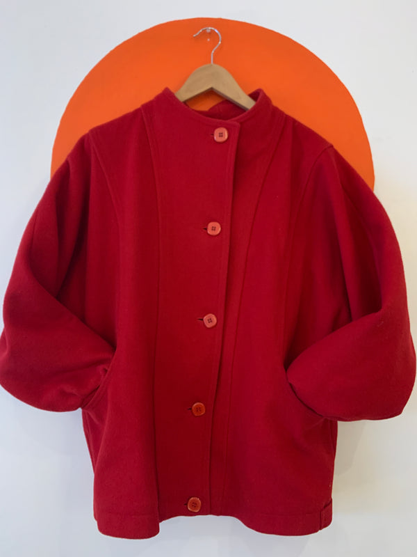 Vintage Red Wool Coat - Canadian Made!