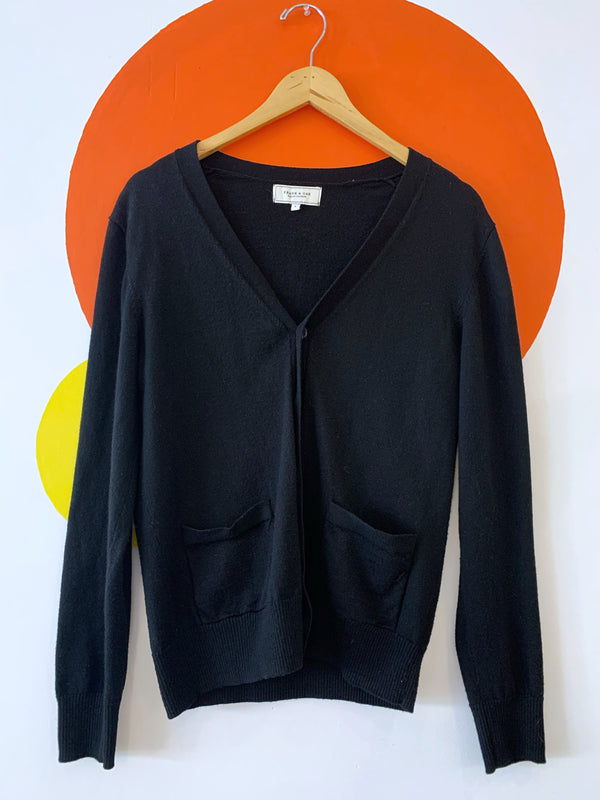 Frank & Oak Black Cardigan