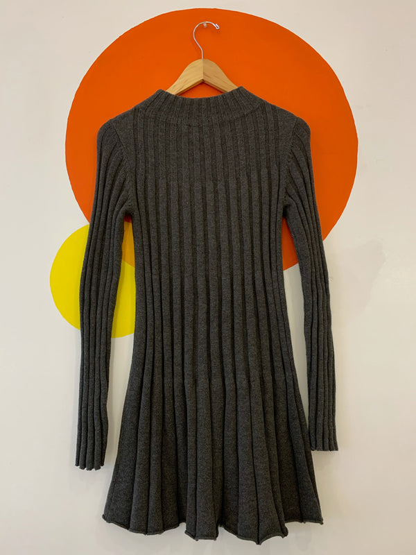 Rib Knit Long Sleeve Dress