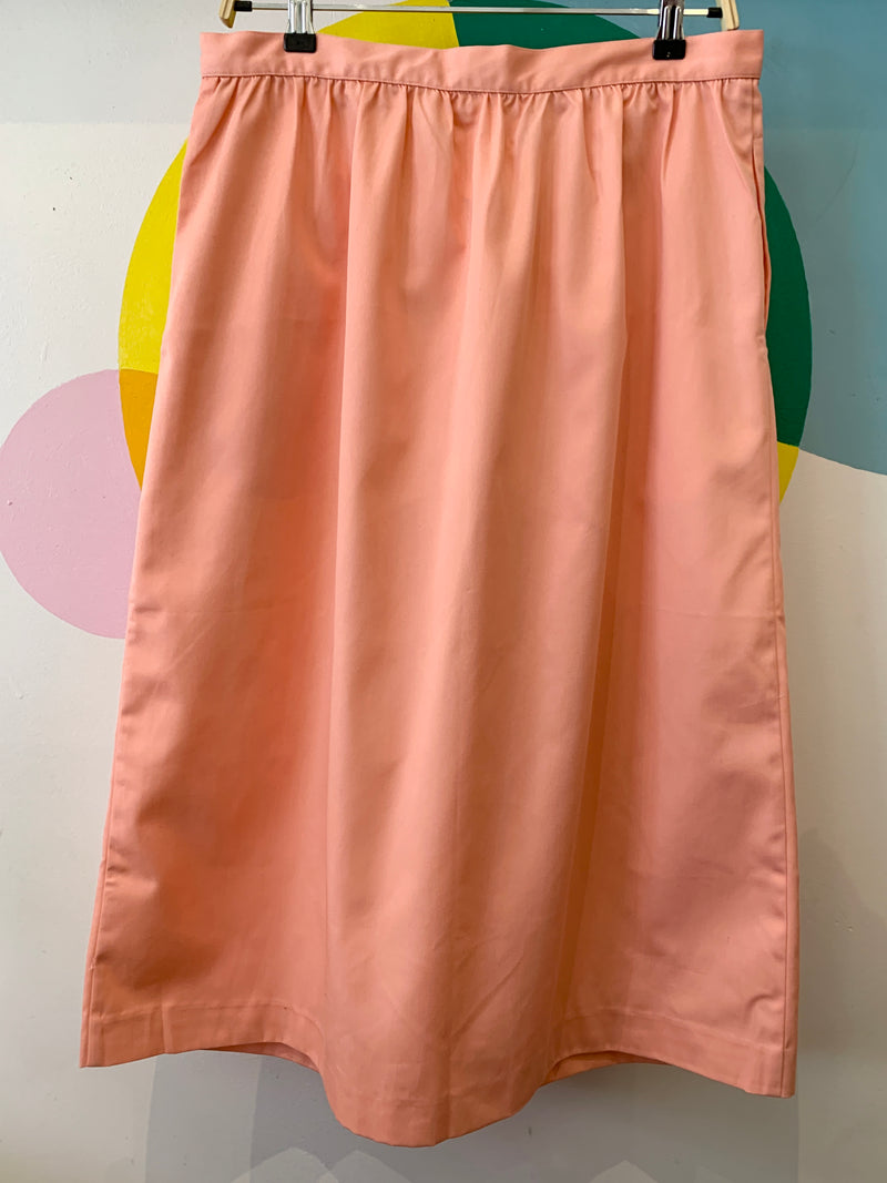 Vintage Button Front Midi Skirt