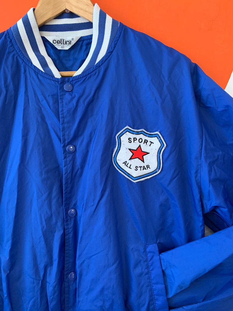 Royal Blue Windbreaker With Sport All Star Patch