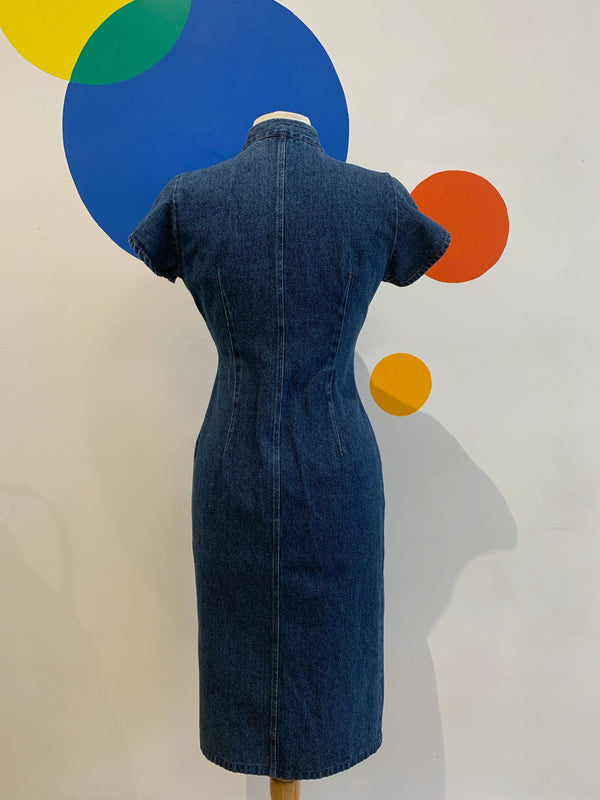 Denim Dress of Many Buttons