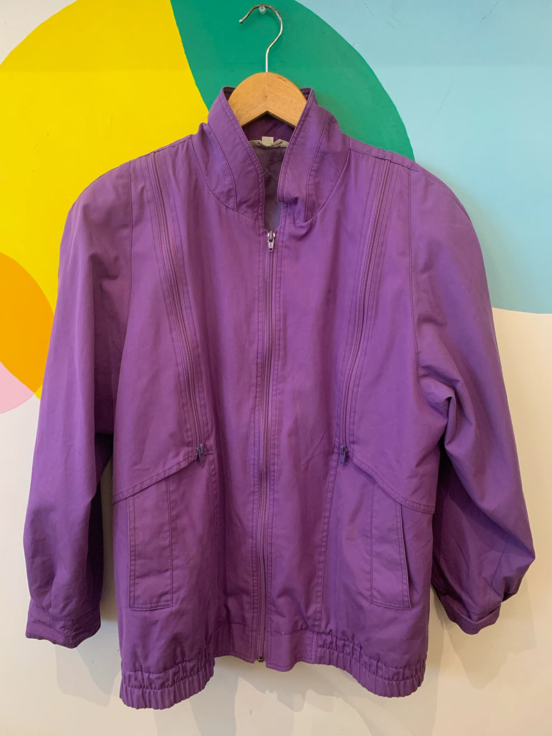 Purple Jacket with Zipper Panels- AS IS