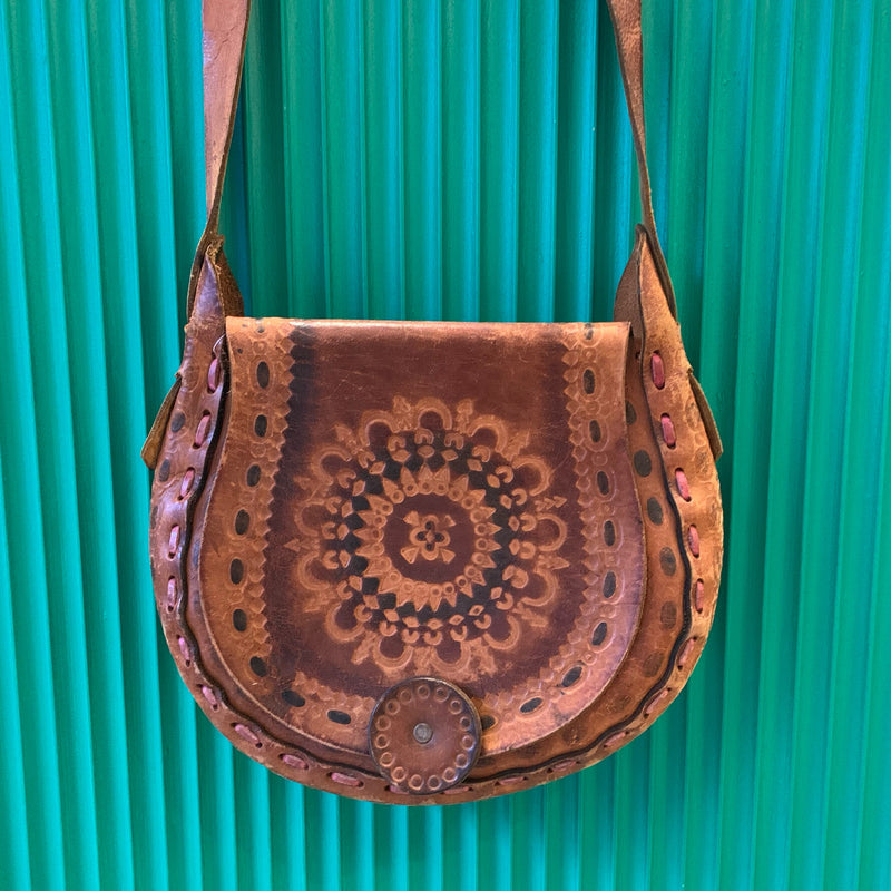 Tooled Leather Mandala Purse
