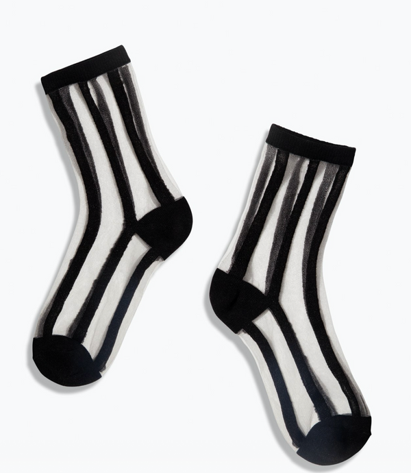 Sheer socks - black stripe