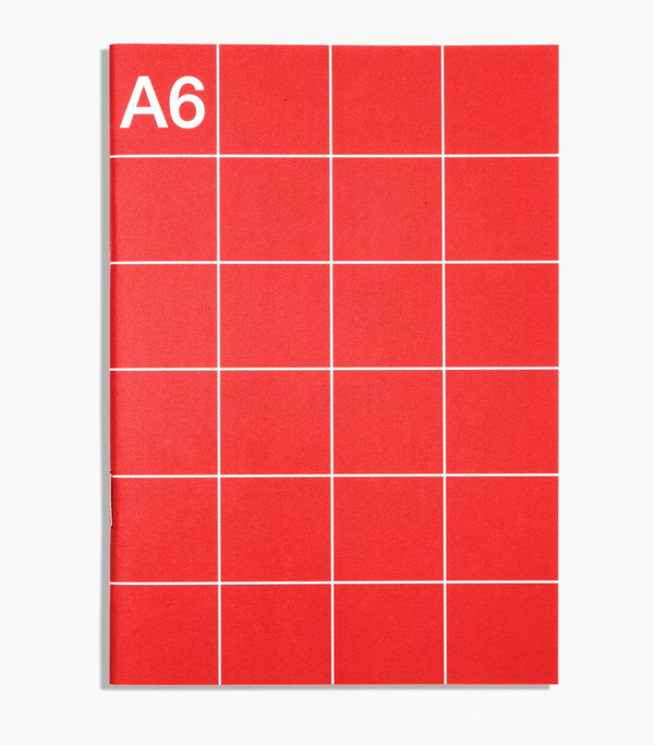 A6 Monthly Planner - red