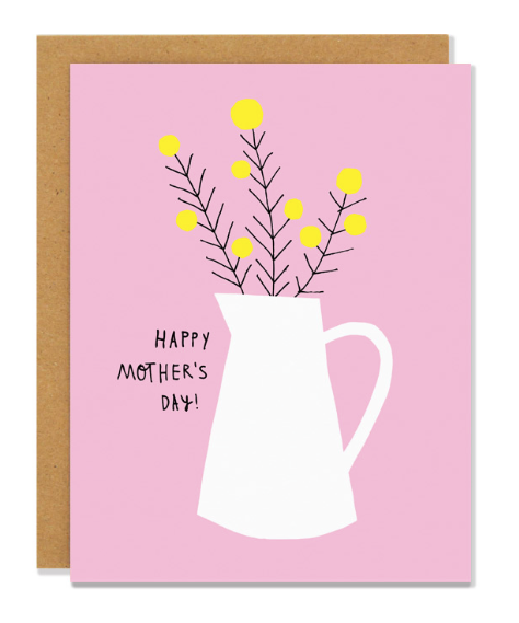 Flower Jug Mothers Day Card