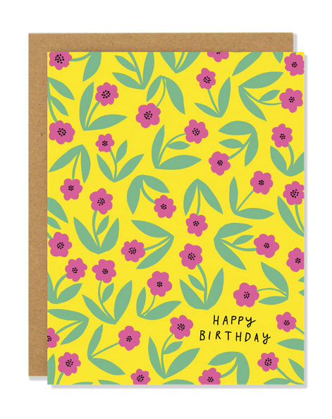 Little Flowers Birthday Card