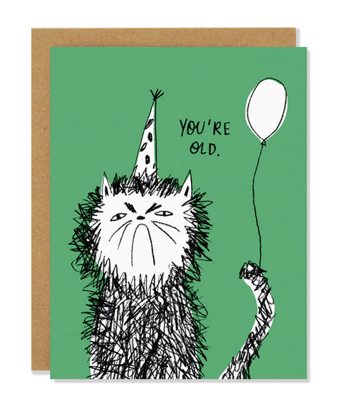 A Snitty Kitty Birthday Card