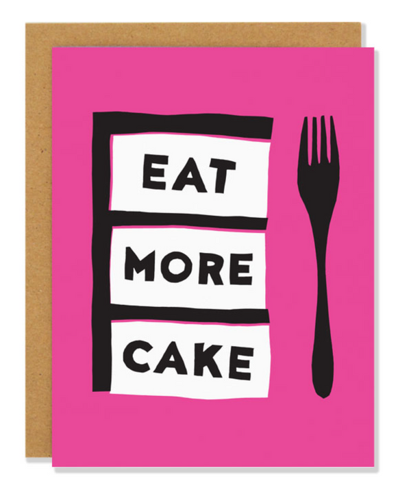 Eat More Cake Card