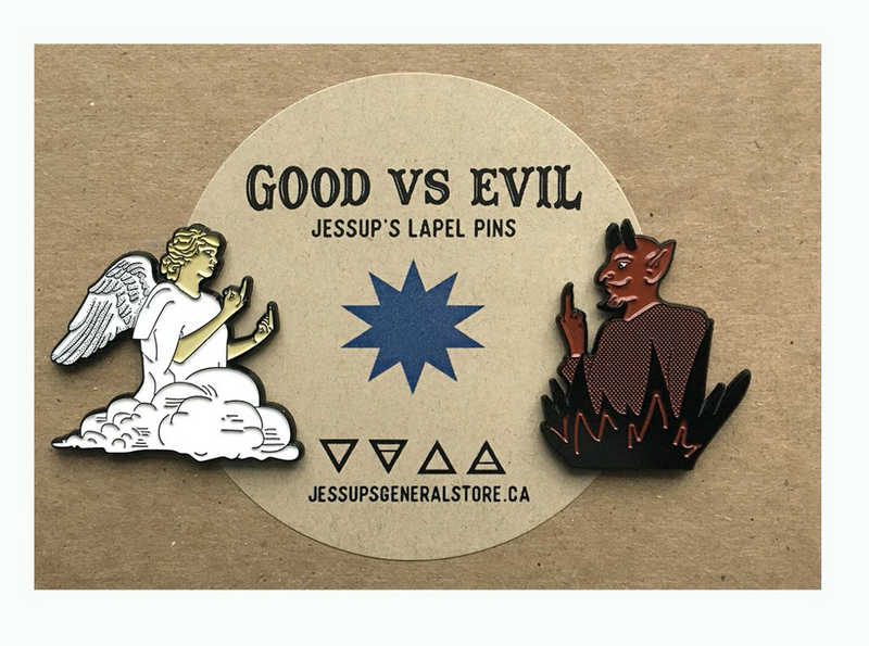 Good vs Evil - Lapel Pin Set