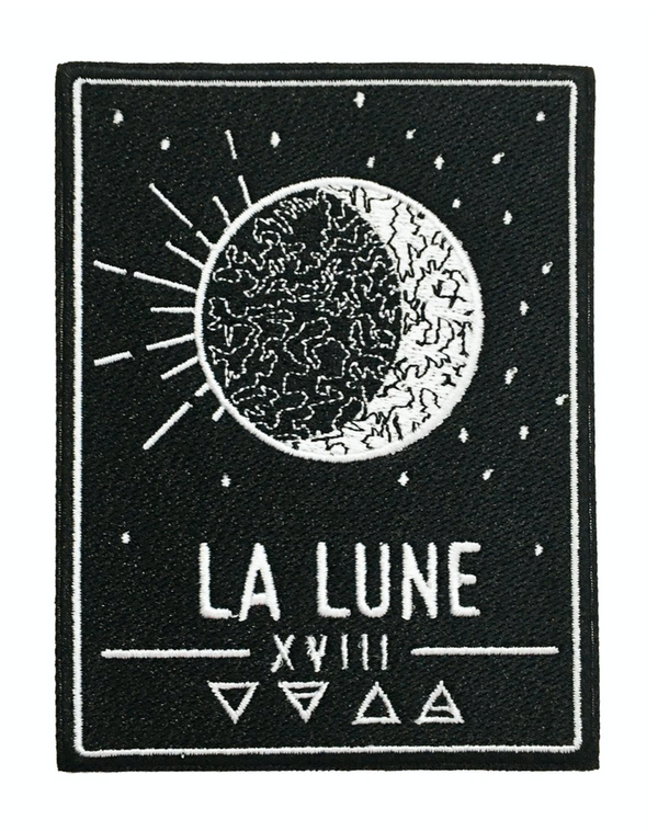 La Lune Moon Tarot Card Iron-On Patch