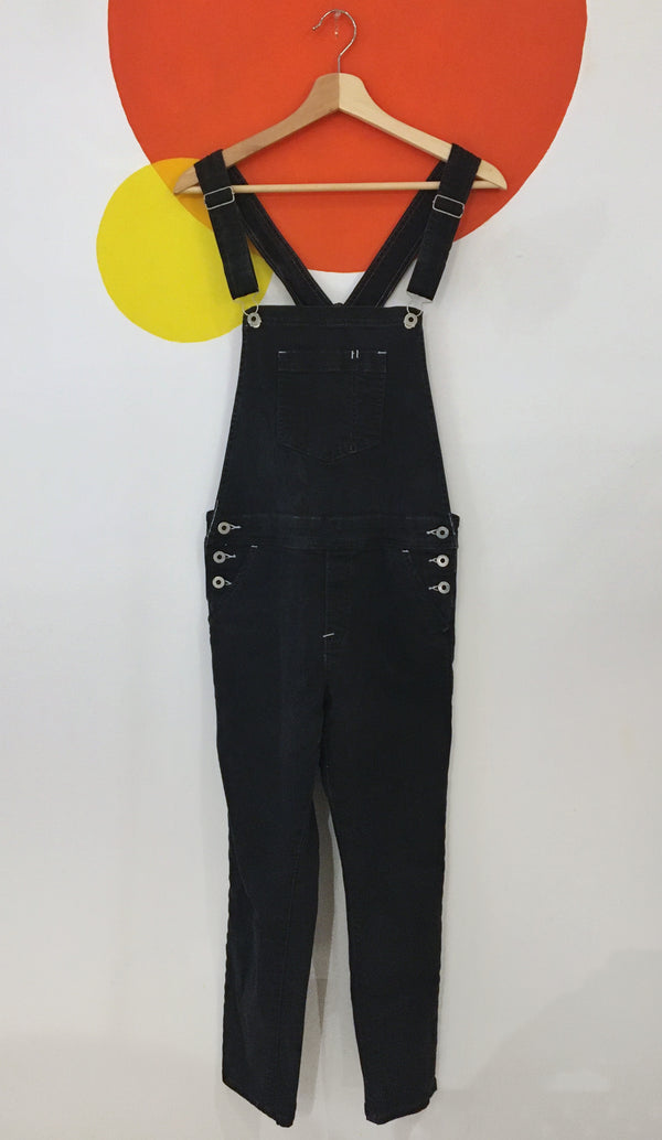 Washed Black Overalls