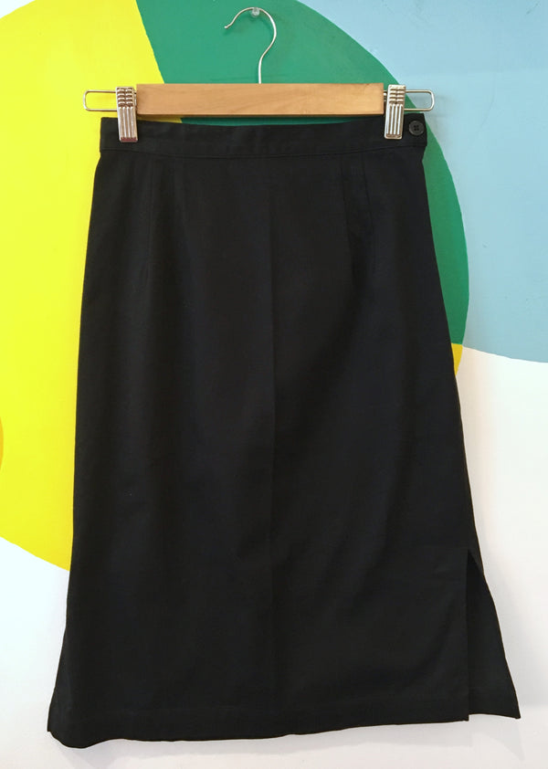 Black pencil style skirt