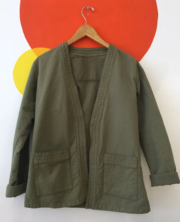 Sage open blazer jacket