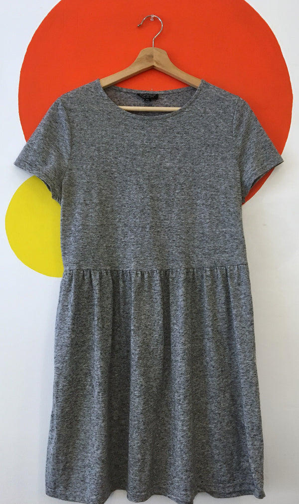Heather grey baby doll dress