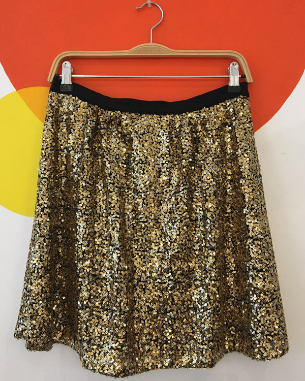 Gold & silver sequin skirt