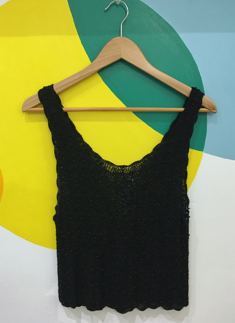 Beaded crochet tank top
