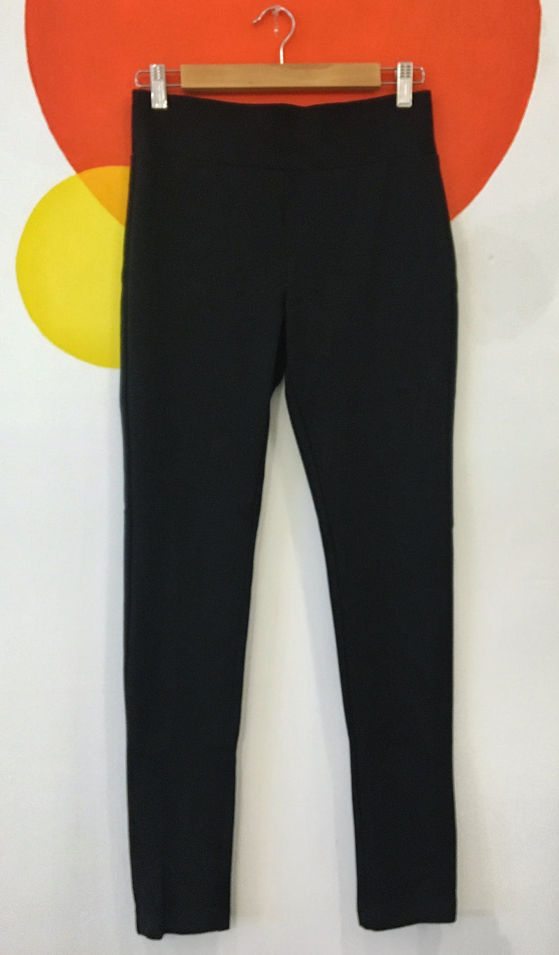 Black pull on stretch pants