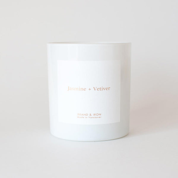 Brand & Iron - Jasmine & Vetiver candle 8.5oz