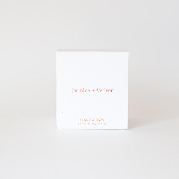 Brand & Iron - Jasmine + Vetiver candle 8.5oz