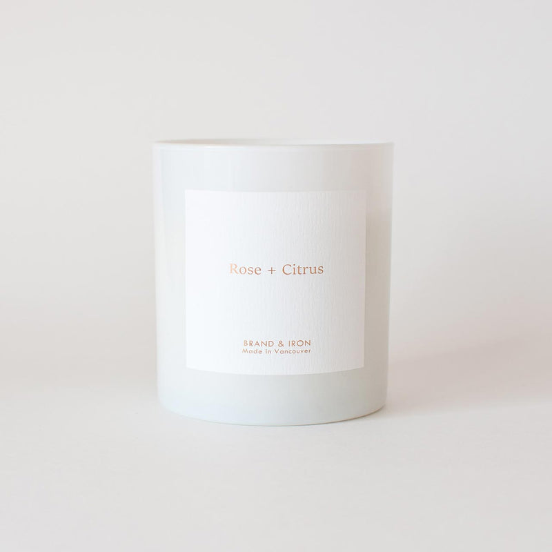 Brand & Iron - Rose + Citrus candle 8.5oz