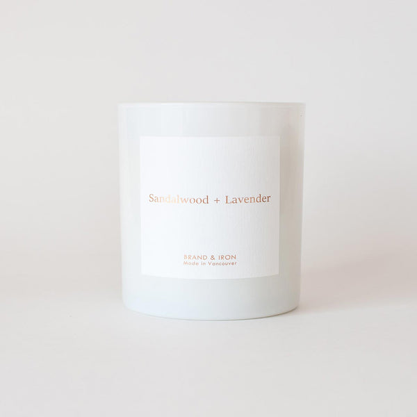 Brand & Iron - Sandalwood + Lavender candle 8.5oz