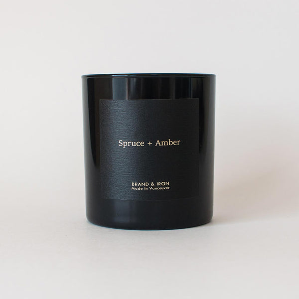 Brand & Iron - Spruce + Amber candle 8.5oz