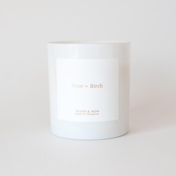 Brand & Iron - Yuzu + Birch candle 8.5oz