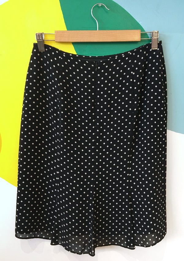 B&W polka dot skirt